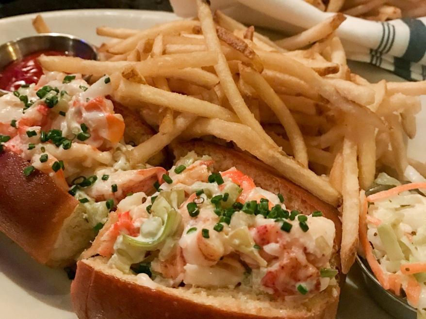 Original Bah Seafood Roll, Maine Lobster, Alaskan King Crab, Jumbo Shrimp, May, Celery ($24.95)