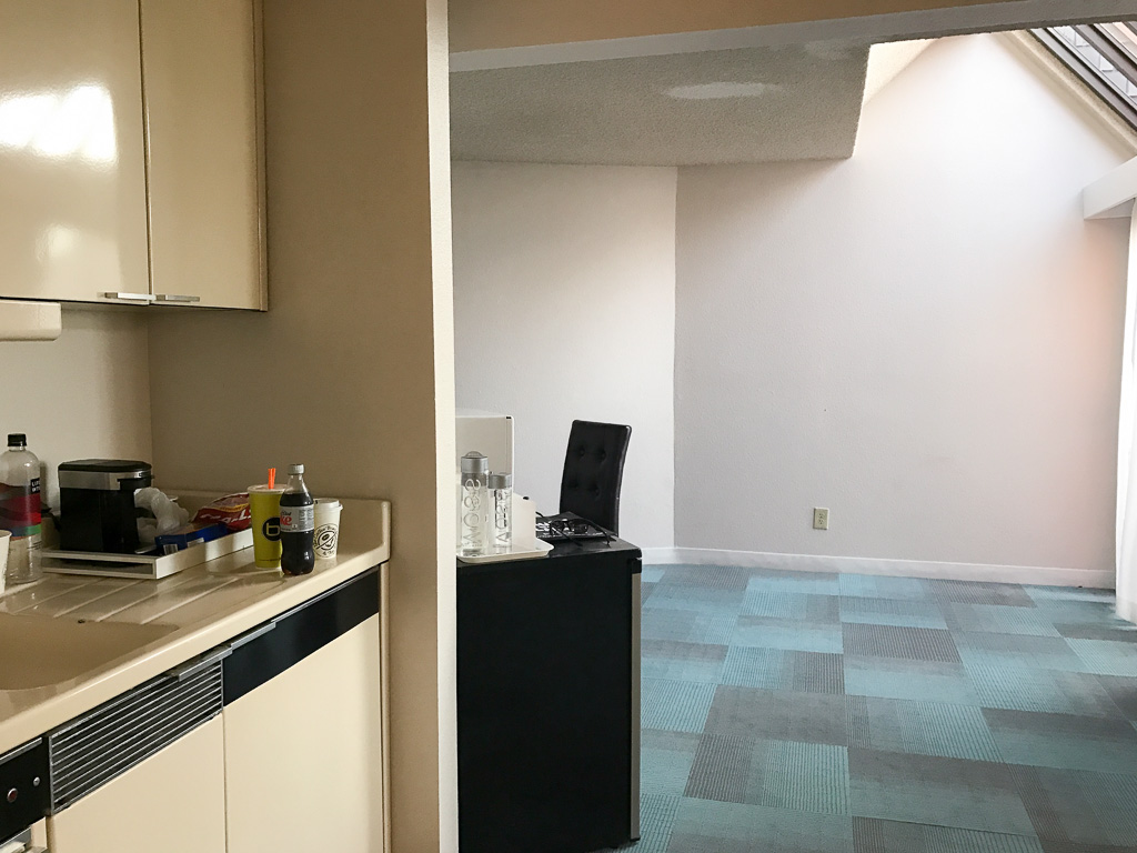 Kitchenette at La Jolla Cove Suites
