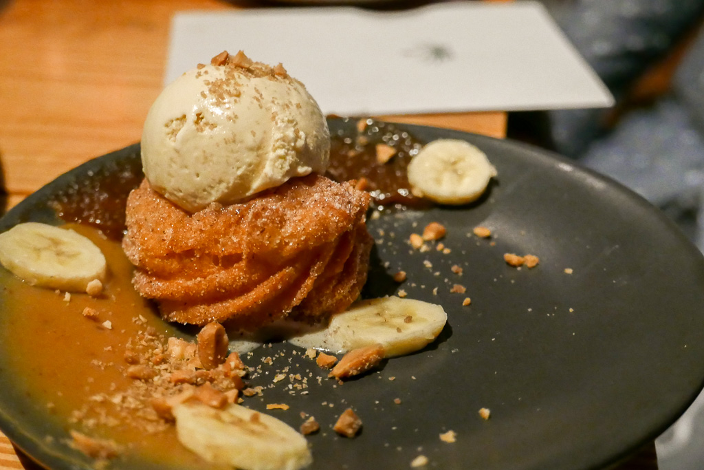 Churro, Piloncillo Ice Cream, Banana, Chile Peanut Butter ($9)