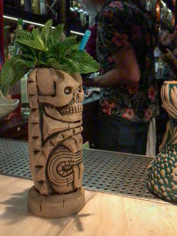 Tiki mug at Three Dots and a Dash