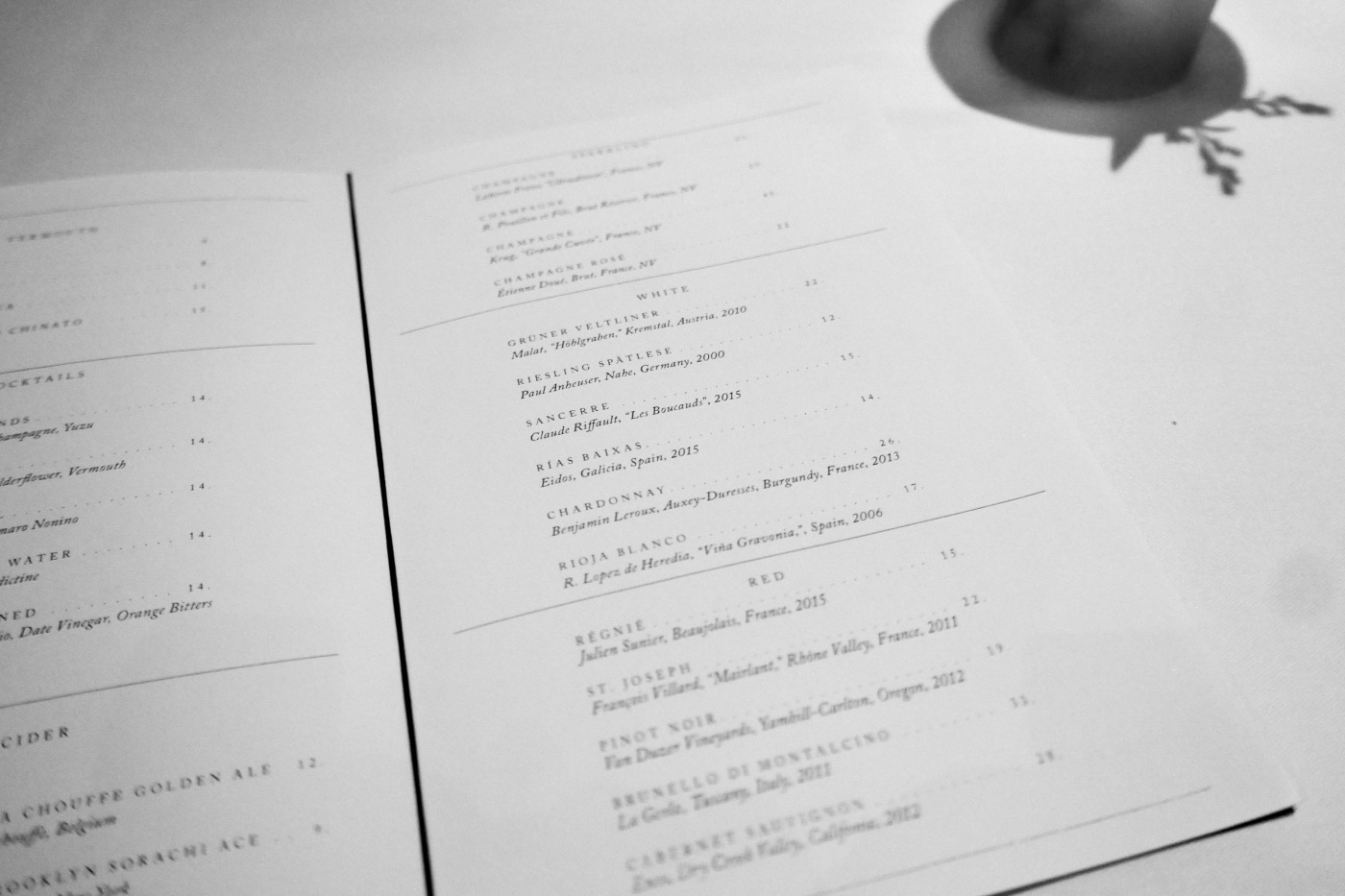 Wines at Oriole