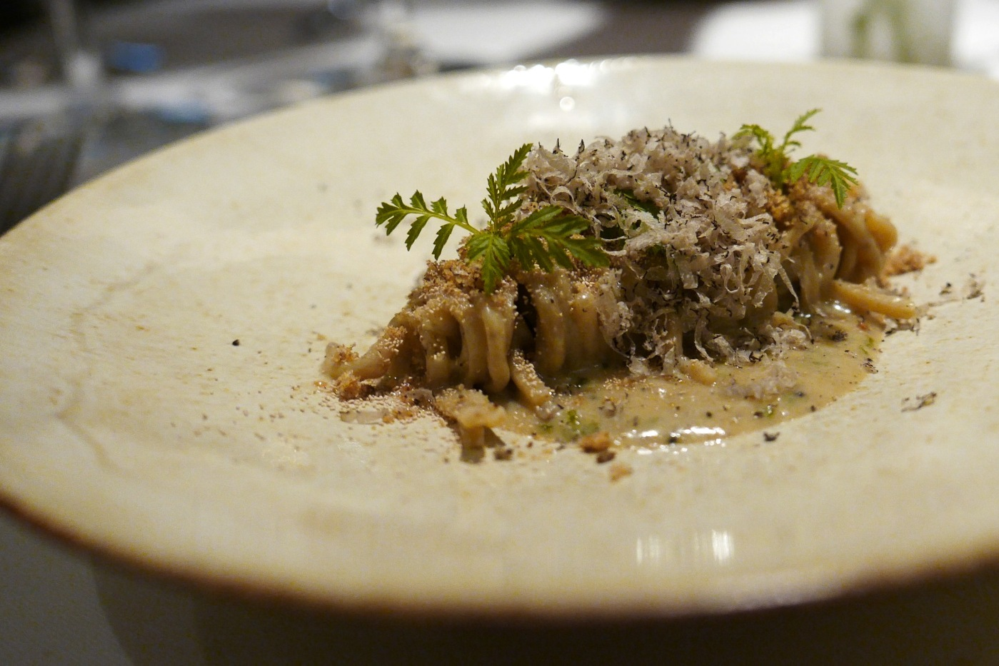CAPELLINI italian summer truffle, rye berry and yeast