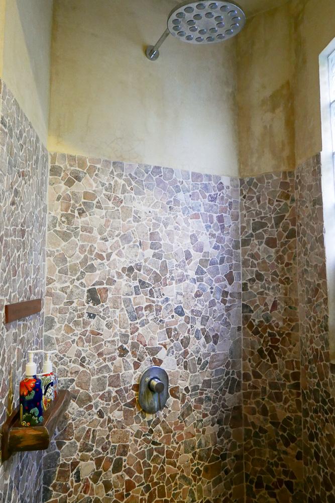 Shower at Alaya Tulum