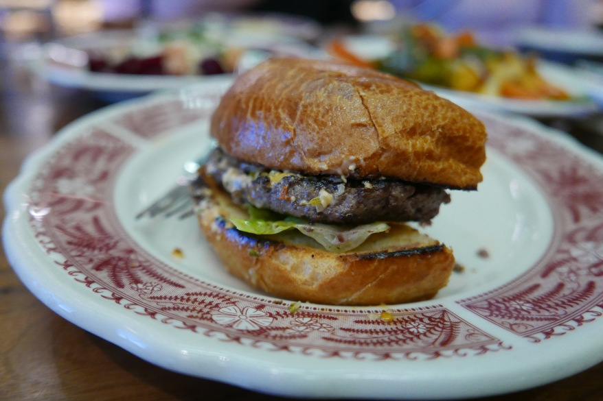 Pub Burger, American cheese, lettuce, balsamic caramelized onions ($15)