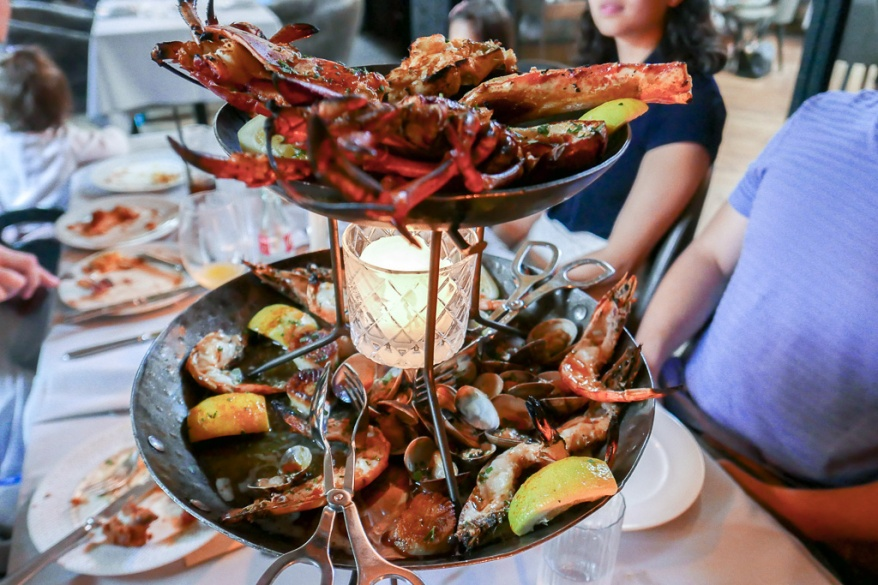 One of the best splurges in the city of Chicago. Roasted seafood tower ($175)